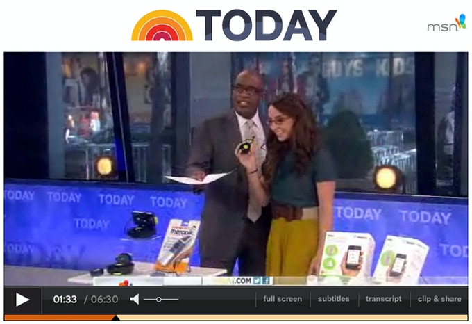 Original Swivl on the Today Show with Al Roker and Katie Linendoll