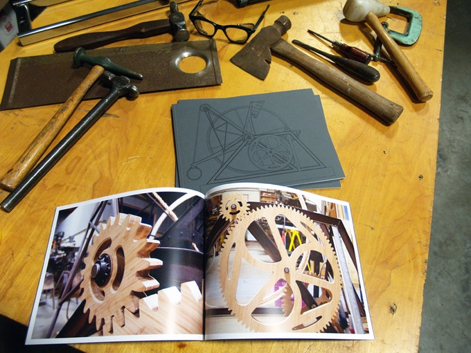 """Example of reward 5, THE BOOK. The book pictured featured beautiful process images of the FREEDOM PRESS commissioned for SFO. The book for this project """"Love, Inertia, and the Pursuit of the Perfect Stance"""" will have even more content!"""