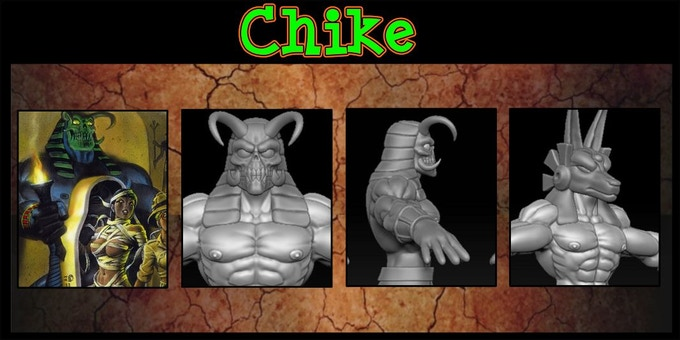 Sculpted by Clint Maclean. You may exchange 5 Damsels for 1 Chike set Includes alts. Cast in High Quality Resin.