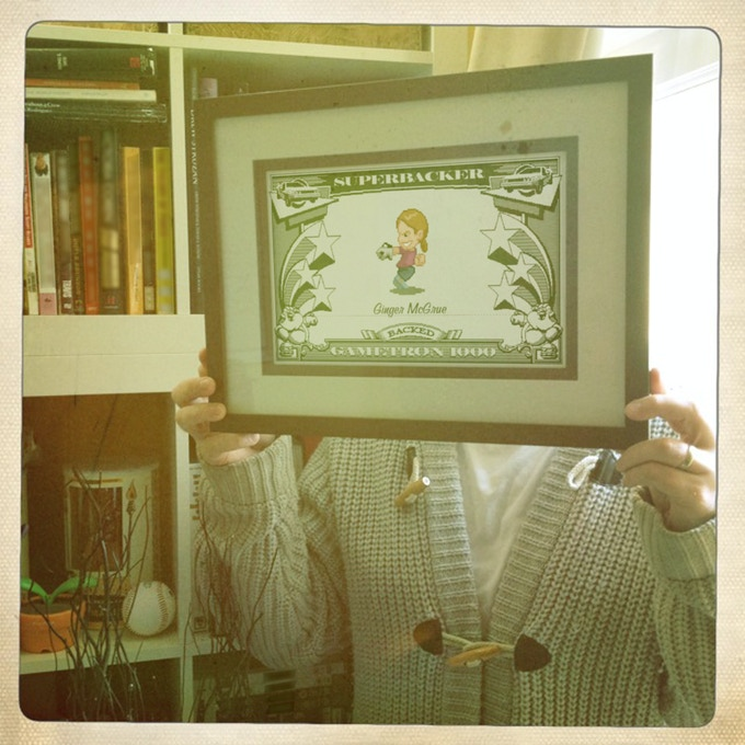 'SuperBacker Certificate' framed and hung on the office wall. Swanky!