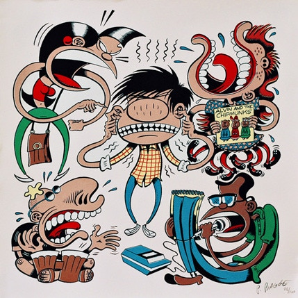 Peter Bagge signed and numbered print