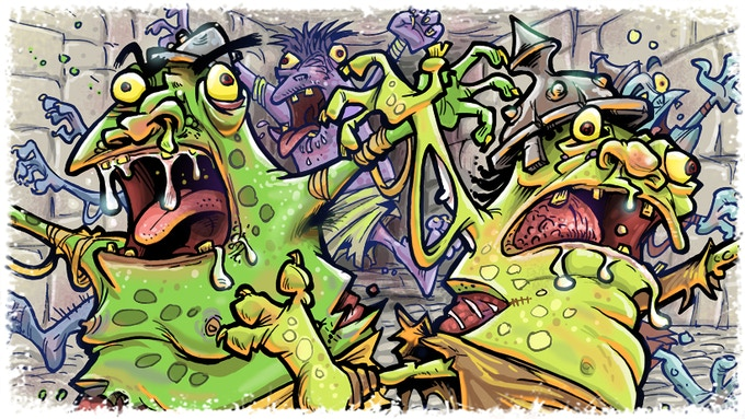 Zombie Hordlings: All hordlings can group to assist each other.
