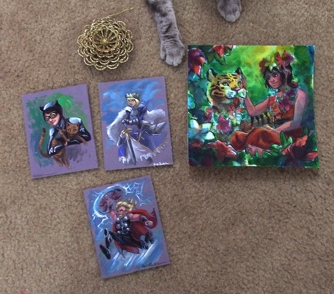 Additional art available at the $100 and above tiers!