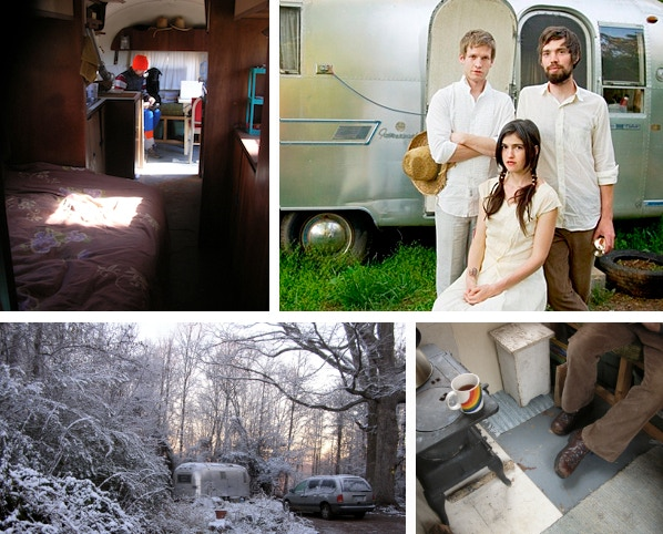 Living in the AirStream meant no bills. We could write songs, go on tour and then save our money to build our new home and studio space.
