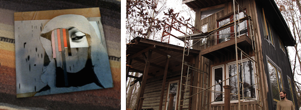 Possible new album art, and the cabin where we'll record it.