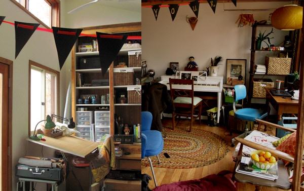 Beth's little art workshop.