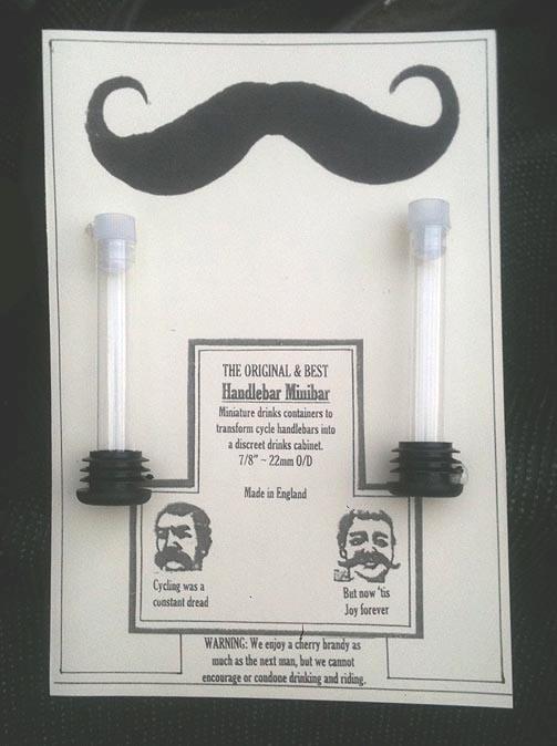 Handlebar Minibar in its prototype packaging