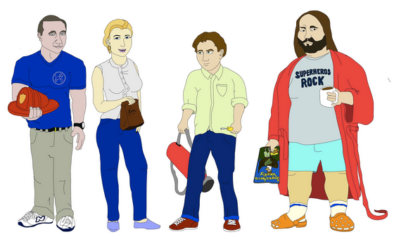 (From Left to Right) Larry, Denise, Tim, & Bill