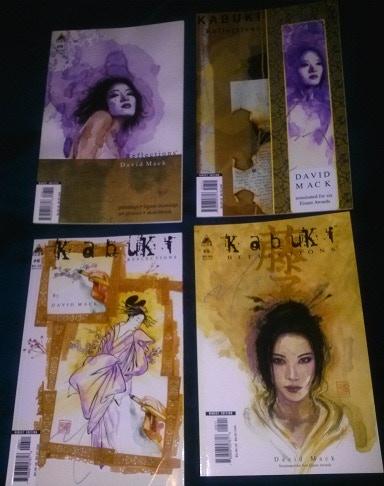 4 David Mack autographed Kabuki Comic Art Books $50