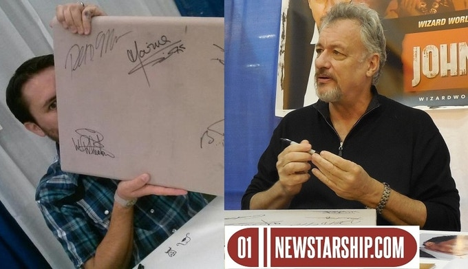 Wil WESLEY Wheaton and John Q De Lancie