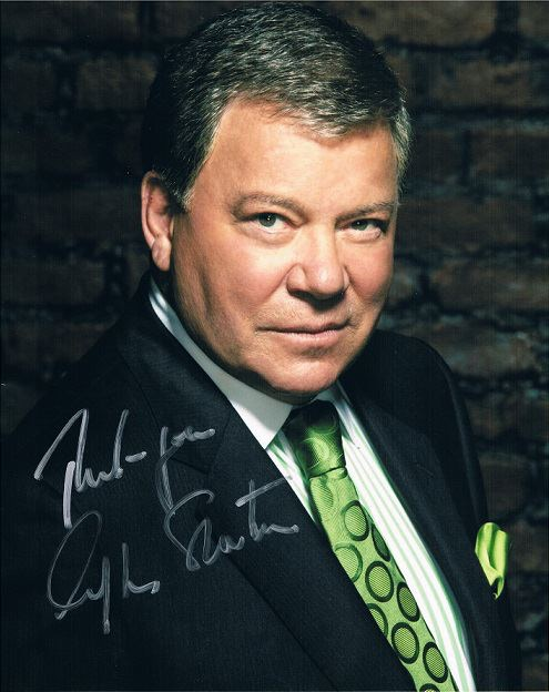 William Shatner supports us and donated this Autograph to help us!