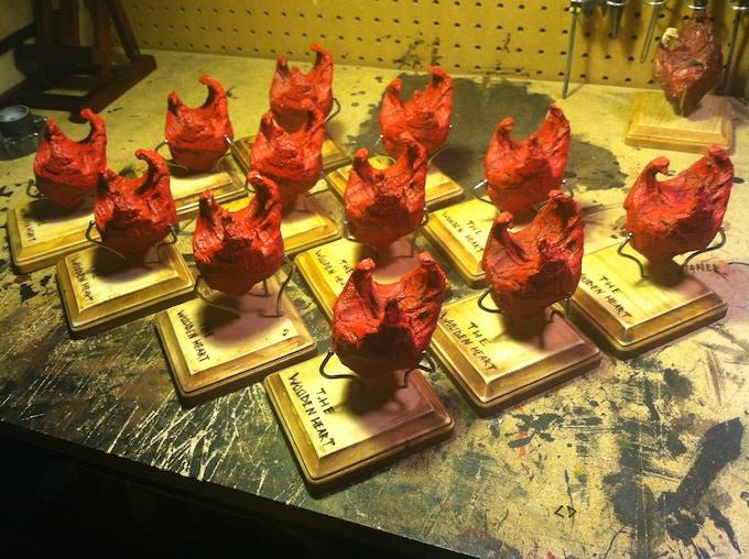 Wooden Heart cast mold replicas.