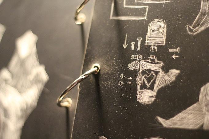 My first Pinocchio Scratch Board Sketch Book.