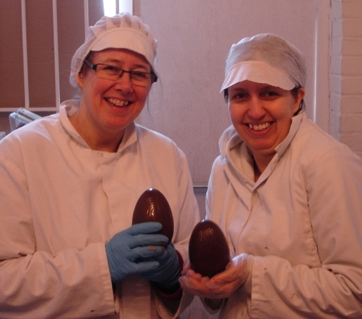 ...our very first easter eggs, andrea was so proud
