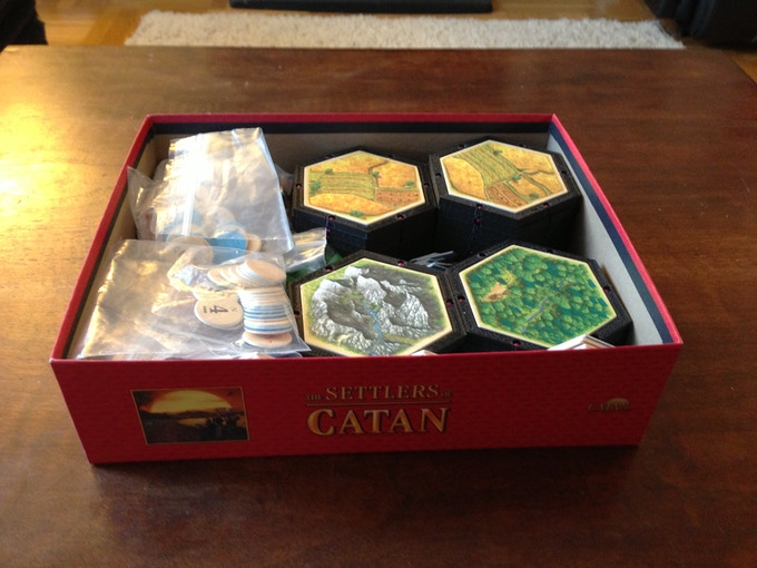 Everything for 5-6 player Settlers of Catan all in the original Box!