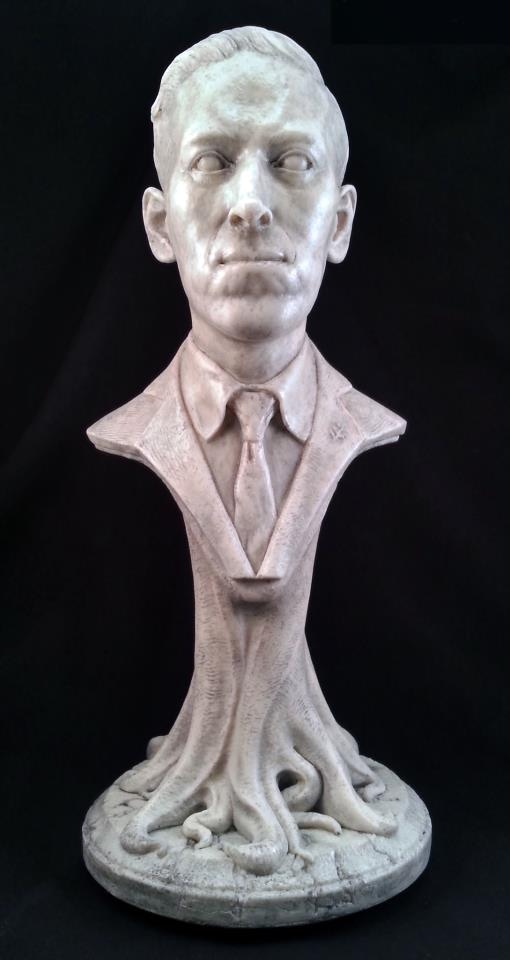 HPL bust by Lee Joyner of Joyner Studios, for Benefactor of the Dark Arts, Second Branch backersHPL bust by Lee Joyner of Joyner Studios, for Benefactor of the Dark Arts, Second Branch backers
