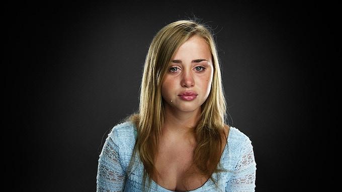 "Julie Van der Post, Age: 17, watching ""Love the Way You Lie"" by Eminem. Location: Amsterdam, 2010."