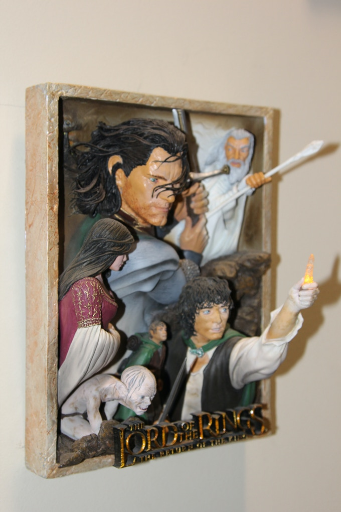 Lord Of The Rings Sculpted Poster