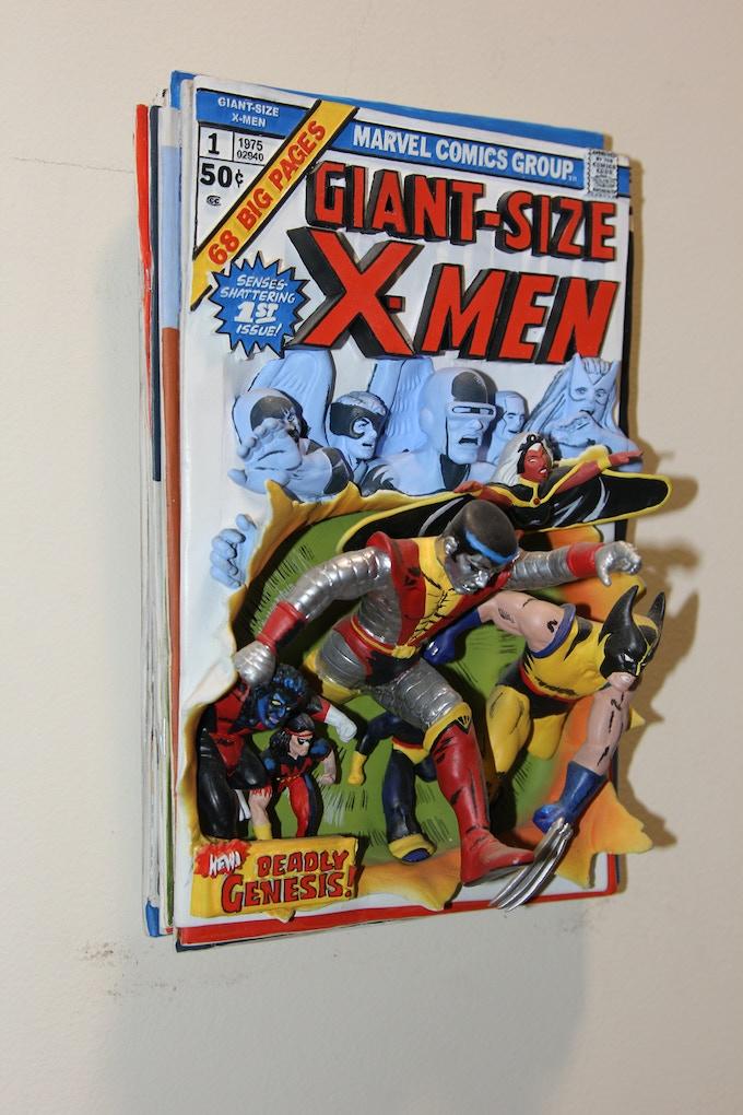 Original X-MEN Sculpted Comic