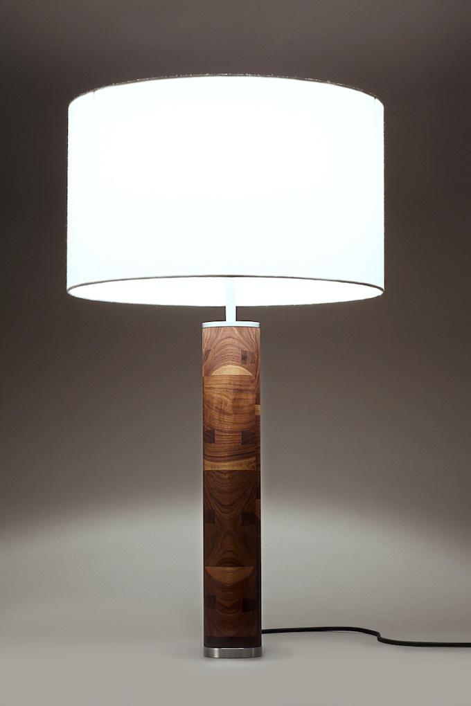 Modern Hardwood And Steel Table Lamp By John Ford Kickstarter