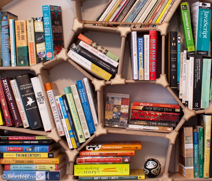 Voronoi Bookshelf