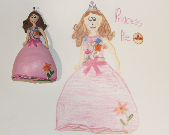 Princess Pie from drawing to Toyloom Fridge Magnet
