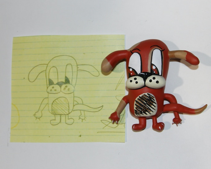 Max the Dog from Drawing to Toyloom Magnet