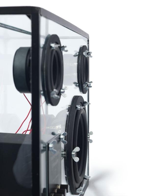 transparent speaker by people people kickstarter. Black Bedroom Furniture Sets. Home Design Ideas