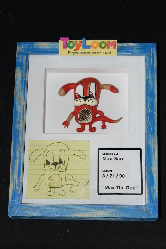 Max the Dog in the Shadowbox Frame