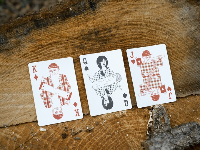 Mock-ups of the King of Diamonds, Queen of Spades and Jack of Hearts!