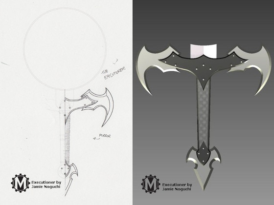 Pledge $147 and choose the Executioner reward to add this hilt to your collection!