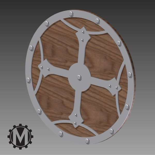 Here is the trivit - we started with a Viking shield concept and added our own flair.  P.S. A trivit is like a coster for pans!