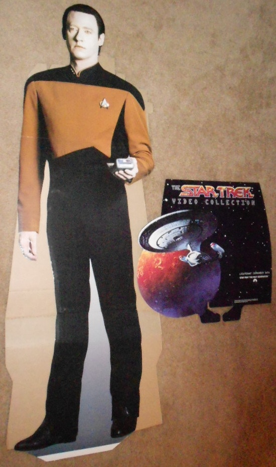 DATA 6 foot Rare Lifesize PROMO Cardboard Standee Donated by PARAMOUNT PICTURES $200