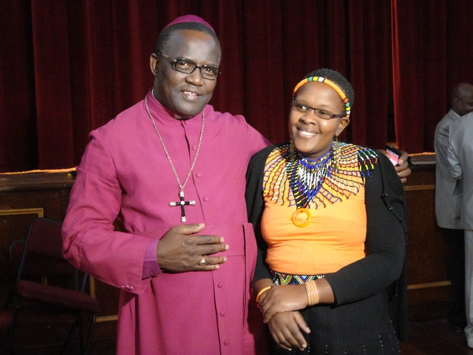 Ntuthu and the Bishop at the Candlelight Memorial in Grahamstown