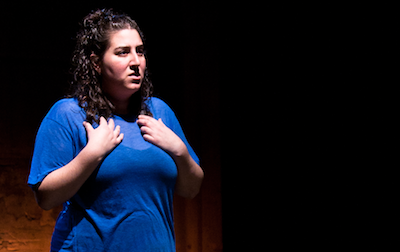 Caroline Rothstein in faith, Culture Project's Women Center Stage 2012 Festival. Winner, Outstanding Overall Production of a Solo Show, 2012 Planet Connections Theater Festivity.