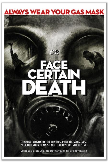 Poster C: 'Face Certain Death' by Oliver Polanski (A1 size)