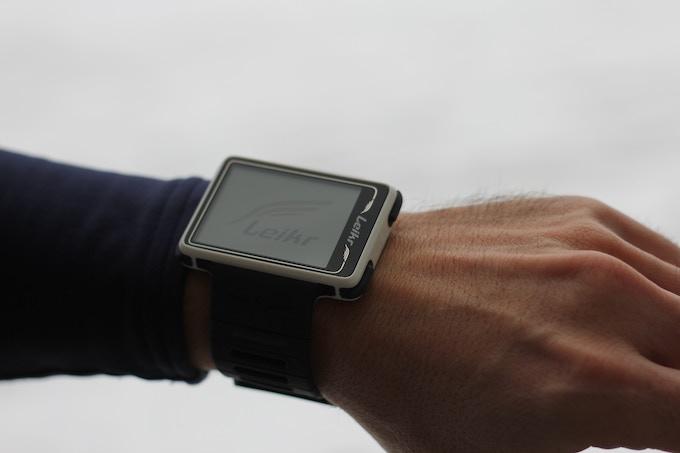Leikr watch start up screen