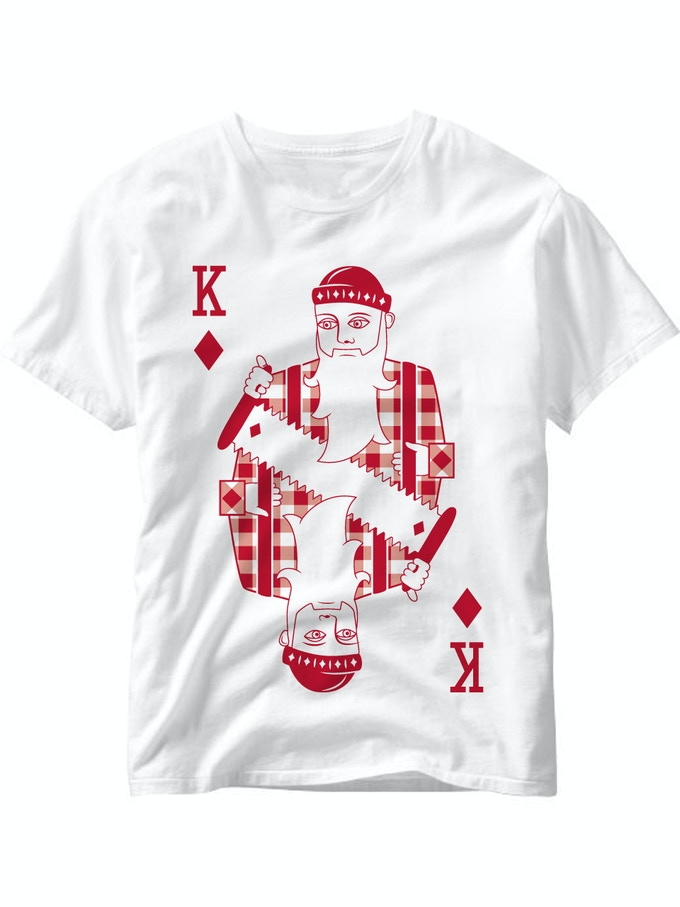 King of Diamonds t-shirt. (If your pledge includes a shirt, please specify which one).