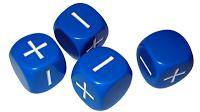 Traditional Fudge dice . . .