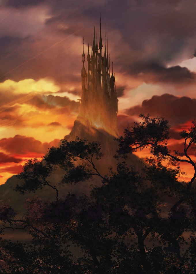 Background concept image artwork - Elgar's Castle