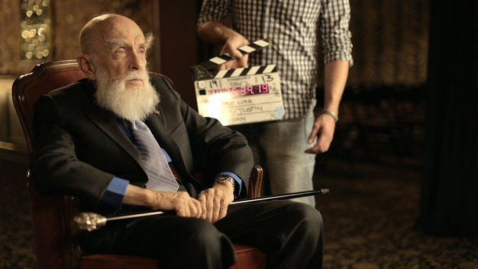 The Amazing Randi on set at The Magic Castle in Los Angeles.