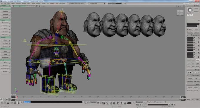 Grump character development in Autodesk Softimage 3D software