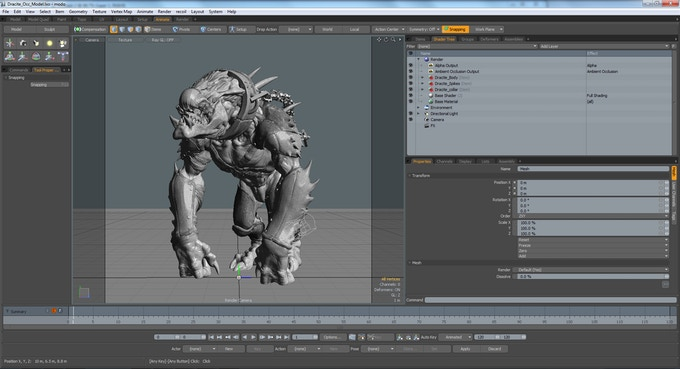 Screenshot of Dracyte in Luxology Modo software