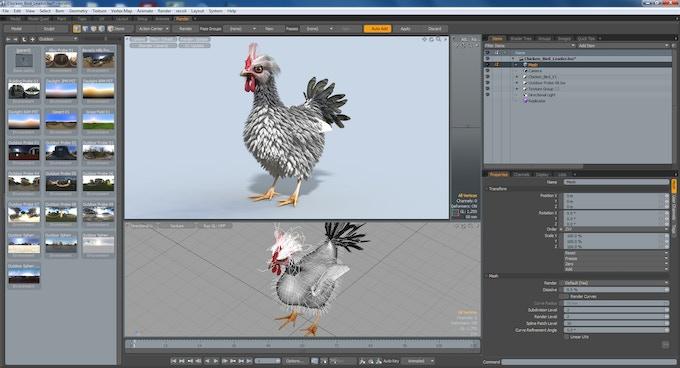 Development in Luxology Modo software