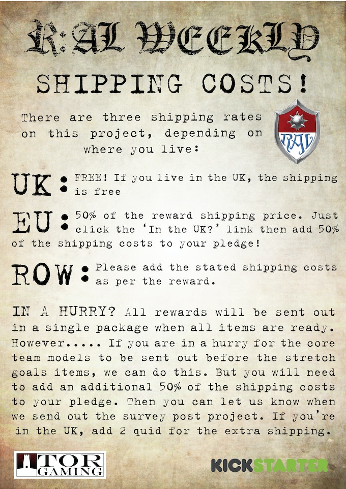 Shipping Costs Poster