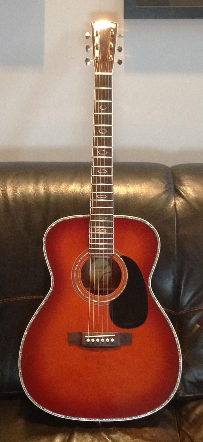 """Plays Like Buttah"" package-  Blue Ridge sunburst guitar"