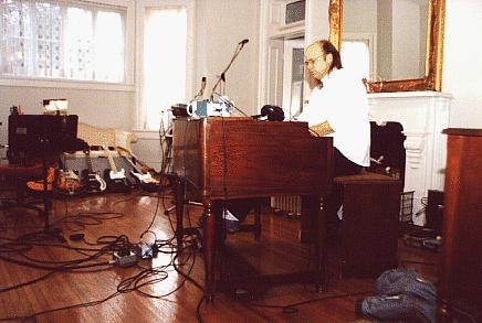 Vintage PM playing his 1962 Hammond B3  at The Bennett House in Franklin, TN sometime around 1992.