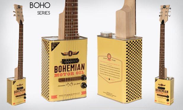 bohemian guitars oil can guitar by bohemian guitars kickstarter. Black Bedroom Furniture Sets. Home Design Ideas