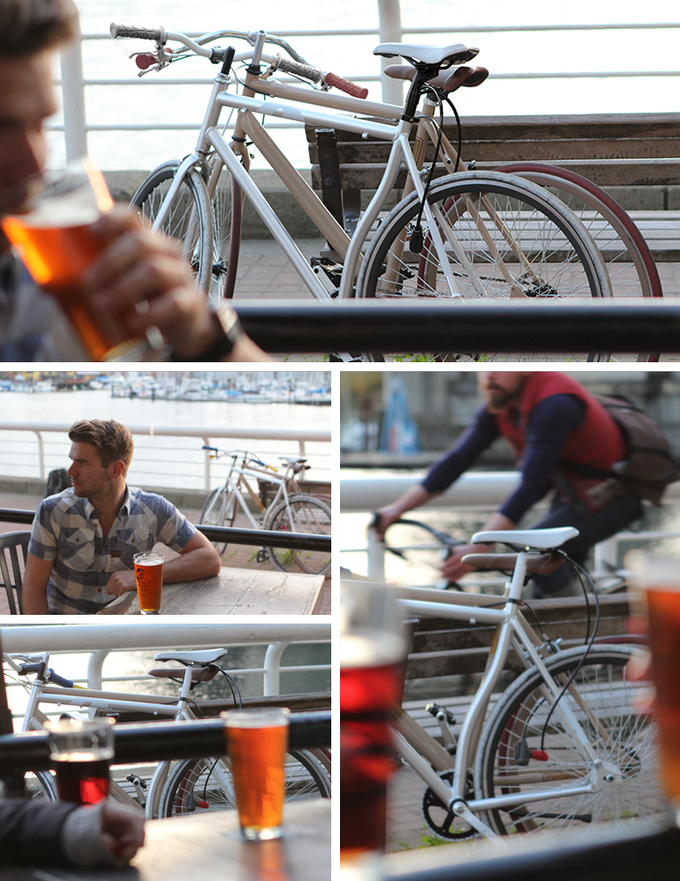 Popping in at the pub after a Sunday ride in the sunshine.