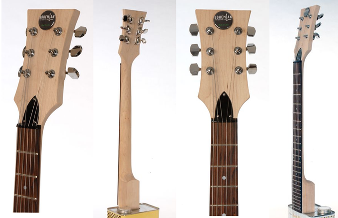 This sweet maple wood neck and headstock comes standard on all Boho Series guitars.